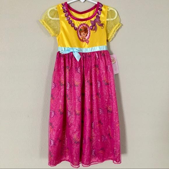 New 💕 Girls Disney Fancy Nancy Nightgown Size 4t